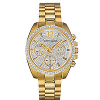 Wittnauer Women's Gold Tone Pave Dial Chronograph Watch