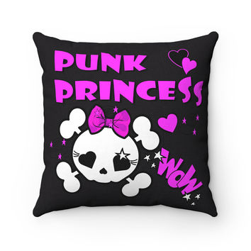 Punk Princess Throw Pillow