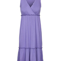 Crossover Maternity & Nursing Night Gown in Lavender