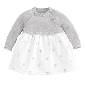 Elegant Baby Sweater Velour Dress