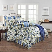 Waverly® Imperial Dress Reversible Comforter Set in Porcelain Blue