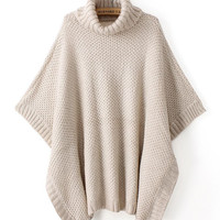 'The Lyndan' Beige Turtleneck Pullover