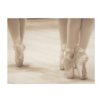 Three Ballerinas en Pointe Canvas Print