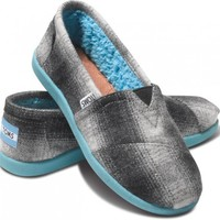 Grey Plaid Youth Classics | TOMS.com
