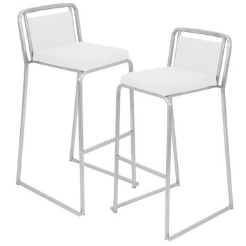 Cascade Barstool - Set of 2 White