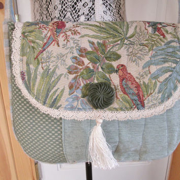 Boho Romantic Shabby Chic Gypsy Mori Girl Tapestry Purse