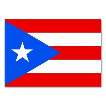 Patriotic table card with Flag of Puerto Rico