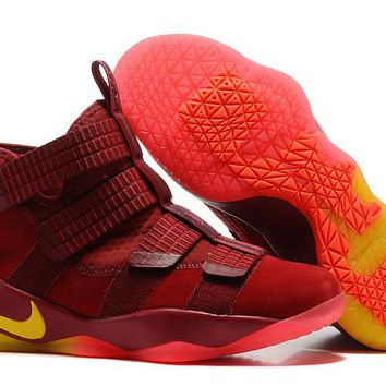 VAWA Nike Zoom Air Men's Lebron Soldier 11 Basketball Shoes Red