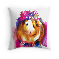 Guinea Pig Cushion Guinea Pig Pillow Gifts for Kids Pink Cushion Animal Cushion, Cute Animal Gift Mothers Day Gifts Best Friend Gift