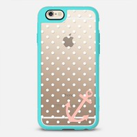 White Peach Nautical Polka Dot iPhone 6s case by Organic Saturation | Casetify
