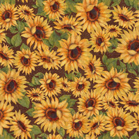 Fabric, Springs Creative, Harvest Blessings Sunflowers, By the Yard
