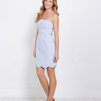 Women's Dresses: Carolyn Seersucker Strapless Dress for Women - Vineyard Vines