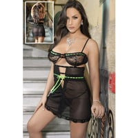 On Sale Hot Deal Cute Sexy Lace Spaghetti Strap Transparent Dress Exotic Lingerie [6596727811]