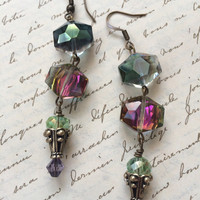 Crystal Dangle Earrings - CORA - Beautiful Crystal Glass Glam Earrings
