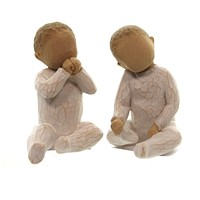 Willow Tree TWO TOGETHER Polyresin Babies Toddlers Twins 26188