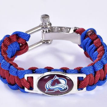 NHL - Colorado Avalanche Custom Paracord Bracelet