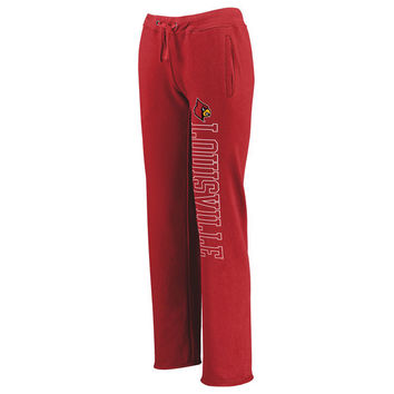 Louisville Cardinals Fanatics Branded Women's Sideblocker Sweatpants - Red