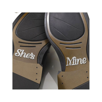 She's Mine Shoe Stickers - Perfect Wedding Gift