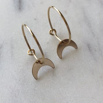 Limited Edition Crescent Moon Hoops