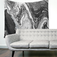 Gray Marble Stone Modern Map Unique Dorm Home Decor Wall Art Tapestry
