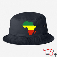 AFRICA MAP FLAG BUCKET HAT