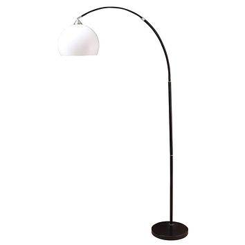 Adjustable Arc Floor Lamp With Marble Base Black