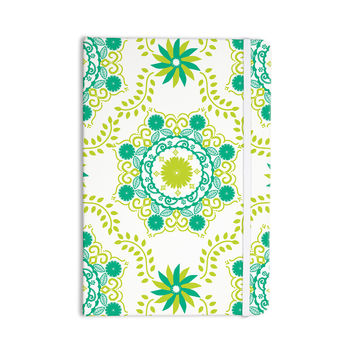 "Anneline Sophia ""Let's Dance Green"" Teal Floral Everything Notebook"
