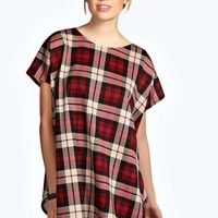 Maya Tartan Split Side Tunic