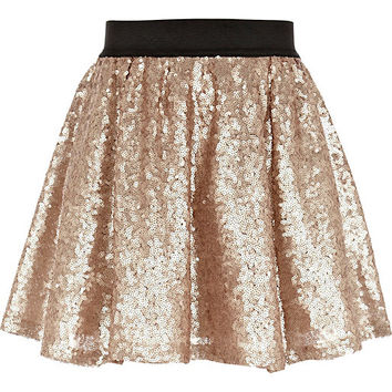 River Island Girls gold sequin tutu skirt