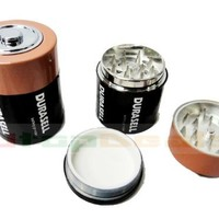 D Battery Herbal tobacco grinder,3 Parts,Built-in Screen