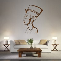 ik1014 Wall Decal Sticker nufertiti Egyptian queen bedroom