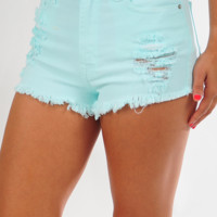 In Full Swing Shorts: Mint