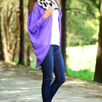 So Satisfied Cardigan, Purple