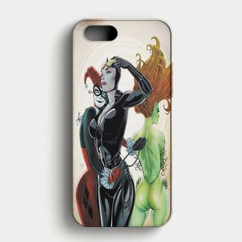 Poison Ivy Harley QuinnBatgirl And Catwoman iPhone SE Case