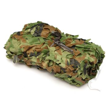 7X1.5m Woodland Camouflage Camo Net Camping Military Hunting Photography shade net Tent Car-covers Sun Shelter