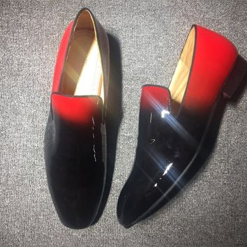 DCCK Christian Louboutin Slip On CL fashion casual shoes red sole for men and women jeans 90523