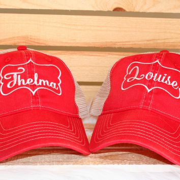 """Thelma & Louise"" Red Hats"