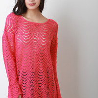 Loose Scallop Knit Sweater