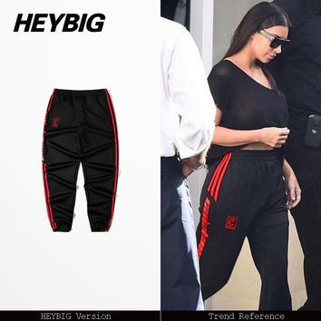 5 colors men and women 2017 new Spring Hot Joggers Hip hop Street clothes workout Sweatpants Asian size Pants Calabasas trousers
