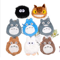 Mini Totoro Plush keychain bag Pendangt  toy soft 2016 New Kawaii my neighbor Totoro figurine  juguetes brinquedo pelucia gift hwd 80's