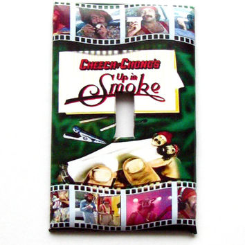 Light Switch Cover - Light Switch Plate Cheech & Chong Up in Smoke Vintage Movie Poster