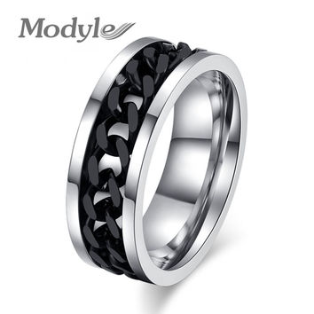 New Fashion Men's Ring  Stainless Steel Finger Rings for Men