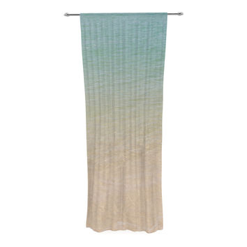 "Catherine McDonald ""Ombre Sea"" Beach Photography Decorative Sheer Curtain"