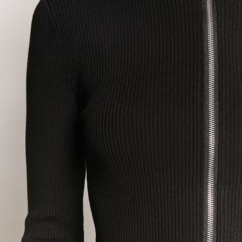 O-Ring Ribbed Cardigan