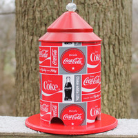 Coca Cola (Coke) Custom Bird Feeder by Bird Feeder Guy.  Great Christmas Gift Idea, Perfect Coca Cola Decor or Collection