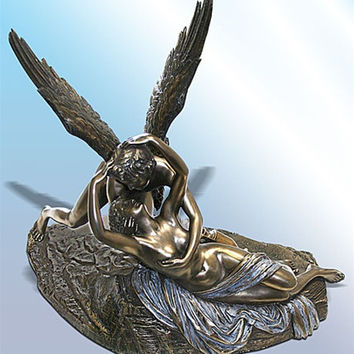 Cupid and Psyche Statue by Canova, Bonded Bronze - 4969B