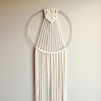 "Beginner Macramé Dreamcatcher Pattern ""Kalyx"" Wall Hanging Wall Decor pdf DIY Crafter Makers Tutorial"
