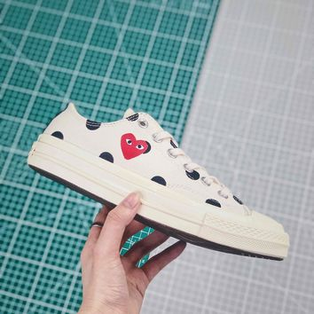 Cdg X Converse Chuck Taylor All Star 1970s Low Top White - Best Online Sale