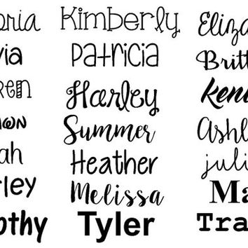 Any Word Decal | Personalized Name Decal | Name Decal | Customized Decal | Word Vinyl Decal | Various Font Decals | Car Decal |Vinyl