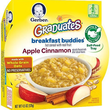 Gerber Graduates Breakfast Buddies - Apple Cinnamon Cereal, 4.5-Ounce (Pack of 8)